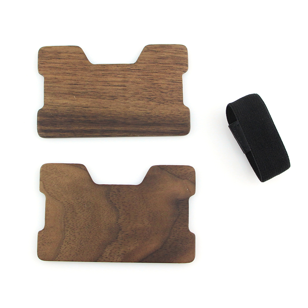Ebony Wood Credit Card Holder Minimalist Wood Wallet