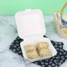 Bagasse food container disposable compostable sugarcane box 5.8""