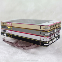 2014 new coming product double color 0.7mm ultrathin metal bumper case for cell phone for iphone 5 5s