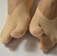 women fashionable invisible two toe socks open toe socks