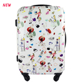 abs pc printing luggage hard plastic trolley cases