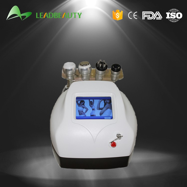 The ultrasonic cavitation RF and vaccum slimming machine for lose weight and skin tighting