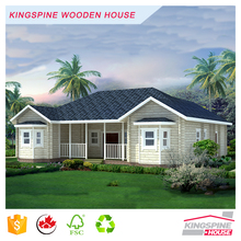 Luxury Villa Prefabricated Solid Wooden Log House High Quality Made in China KPL-021