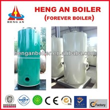 working simple vertical boiler 200kg steam boiler