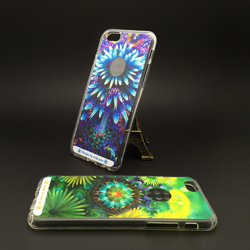 Customized UV Print PC Hard Back Case TPU Silicon Soft Case Cover for iPhone5/6/6 plus and Samsung Case