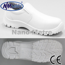 NMSAFETY S1 white micro fiber PU sole steel toe cap safety shoes/working shoes for kitchen and nurse