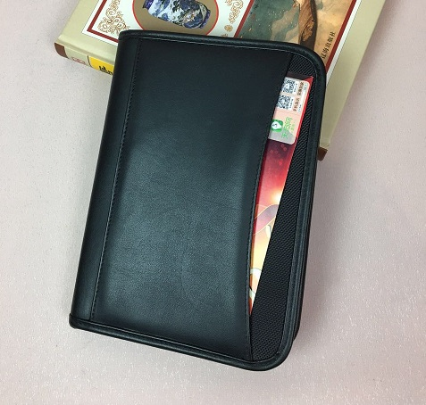 2017 new style A5 size padfolio with front pocket