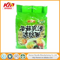 Non-fried mushroom flavor instant noodle low calorie vegetarian food