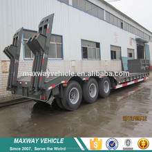 Off road construction and engineering machinery transport lowbed semi trailer
