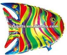 2012 hotting Africa fish shaped mylar balloon