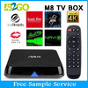 Factory stable quality Android 4.4 M8 bluetooth tv box Quad core 2gb ram AMLogic S802 digital tv converter box wifi