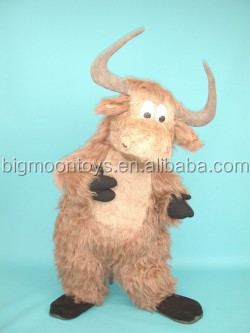 fur yak costume/ plush fabric yak mascot costume/ adult yak costume for event