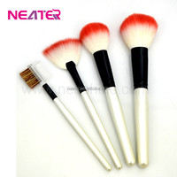 Nylon hair flat liquid foundation makeup brush,professional makeup brush set,makeup kits for sale