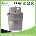 Knee control hospital hand washing sink stainless steel scrub sink