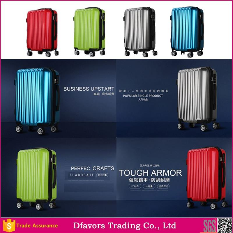 New design royal various color size trolley luggage best trolley luggage suitcase purple color lugage multiple colors