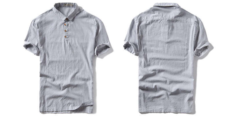 Casual Cotton linen T-shirt good quality POLO shirt for men