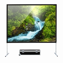 Wholesale 200 inches Front and Rear Fast fold 16:9 projection screen