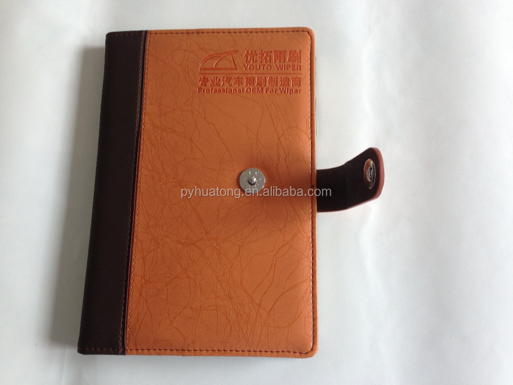 a5 size refillable leather notebook