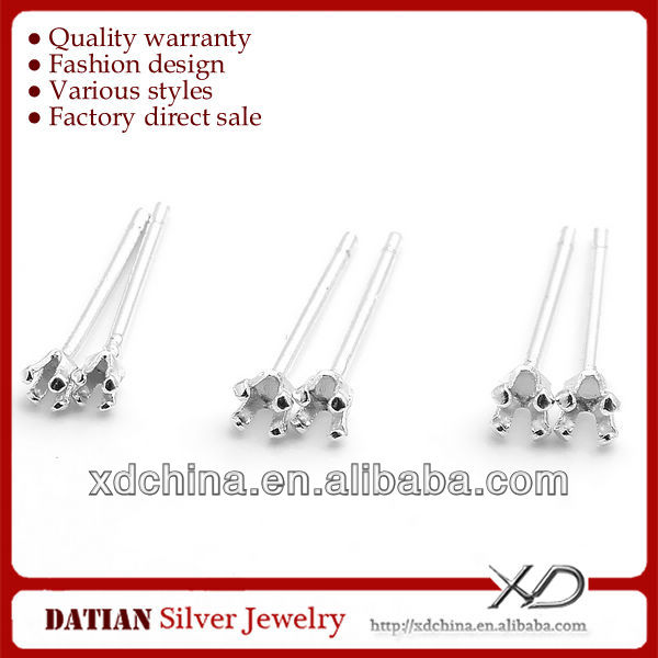 XD P634 925 sterling silver stud earring parts