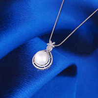 31517-Xuping Fashionable New Item Jewelry Pearl Pendant Necklace