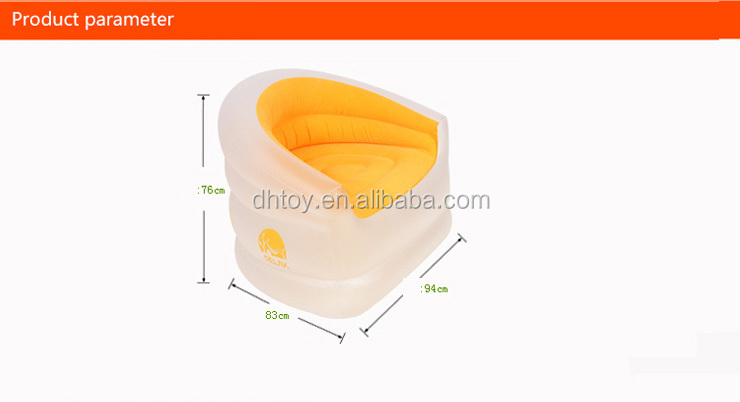 transparent flocking inflatable air floating sofa