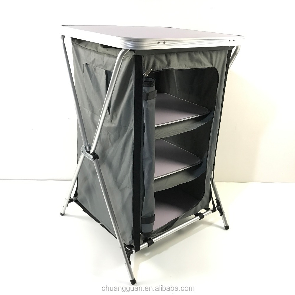 Outdoor portable camping cabinet storage kitchen grill cupboard