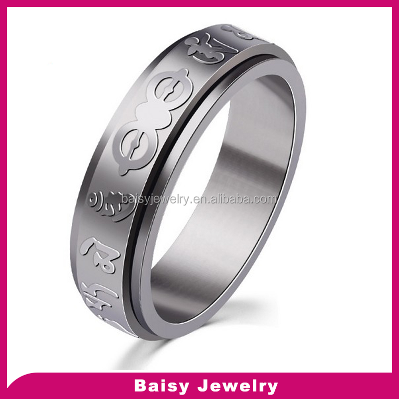 most popular custom Scripture engrave 316l stainless steel index finger rings for men