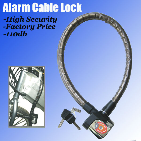 110db Alarm Cable Lock Bike high security residential locks
