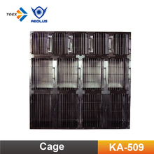 KA-509 Wholesale Durable Pet Cages Round Cornered Hospital Large Stainless Steel Dog Cages With Separator