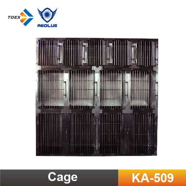 KA-509 Wholesale Large Steel Dog Cages Durable Pet Cages Round Cornered Kennel