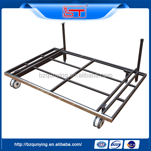 Furniture hardware adjustable metal sofa bed mechanism with wheels