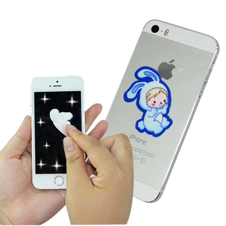 customized logo sticky phone screen cleaner with antibacterial