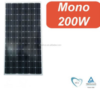 Hot sale !! High efficiency factory price Mono solar panel 200w manufacturer direct
