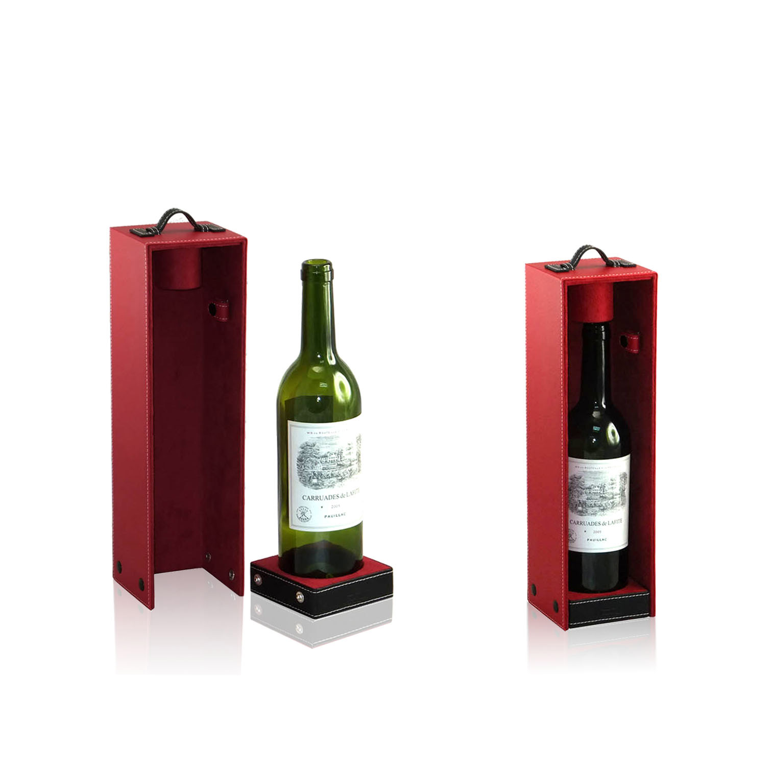 Wholesale cardboard wine suitcases /vintage wine suitcase produced for Blind Pig