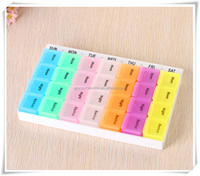 7 days 28 cases different colors good quality plastic pill box