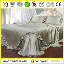 elegant 100% mulberry silk satin bedding set /silk satin sheet set