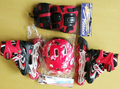 wholesale factory price 3 colors 4 wheels inline skate set