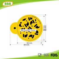 High quality plastic cake stencil decoration
