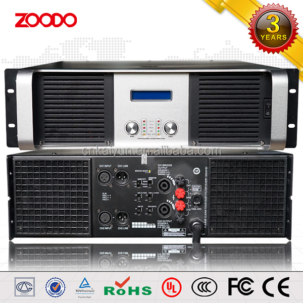 K-1200 Class H 2U pa subwoofer hifi stereo audio power amplifier/music dj equipments