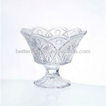 hand made clear fruit plate/beautifully carved designs