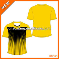 new design blank tshirt with leather sleeves
