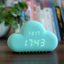 Creative Cloud Shape LED Digital Alarm Clock with Sound-activated Function, Saving Power Mode and Snooze Function Available