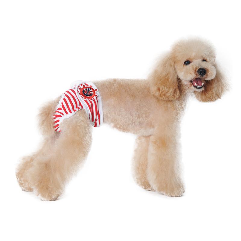 Nouveau design chien femelle pantalon doux respirant chat incontinence couches lavables culotte - Couche pour chien femelle ...