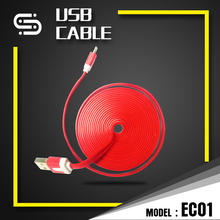 3 FT Noodle Flat Micro USB Data Cable usb Charger for IPhone 5 and android