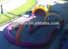 HI EN14960 high quality mini inflatable race car track