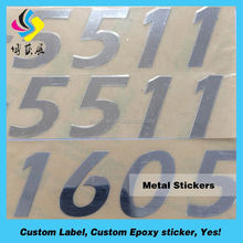 3M tape metal name plate sticker