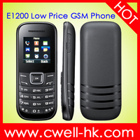 mobile phone E1200 GSM No Camera low price simple feature phone