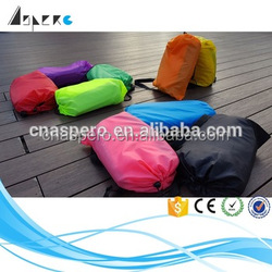 Single mouth opening Nylon fabric lazy bag Inflatable Lounger inflatable dome tents