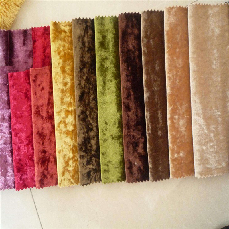 Fashion and Beautiful High quality Warp knitted 95% polyester 5% spandex Velvet dyed for Garment and Sofa