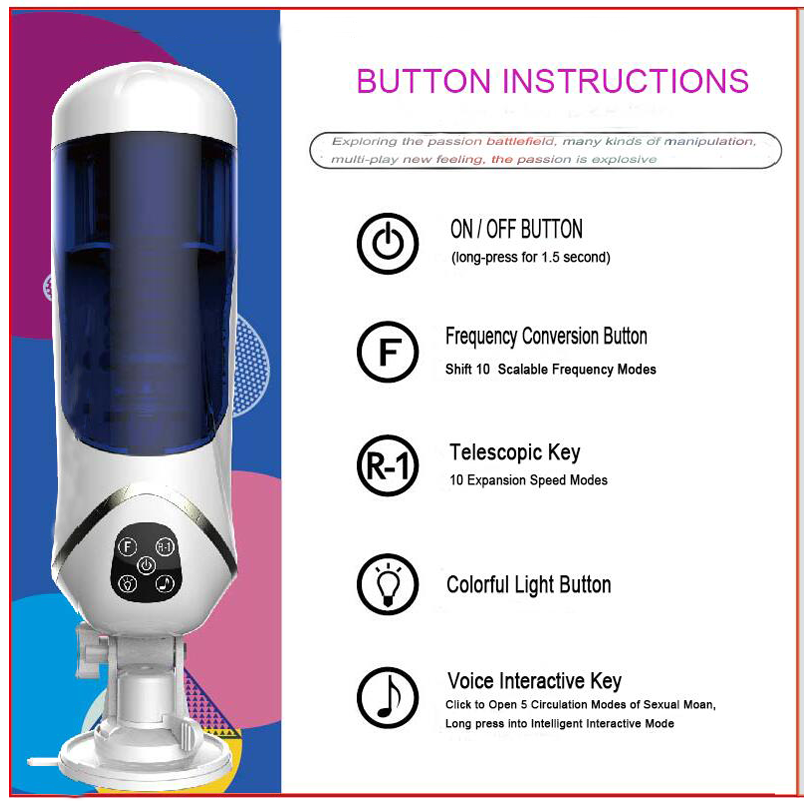 2017 New products Chinese supplier best selling full automatic smart interactive voice male masturbation cup